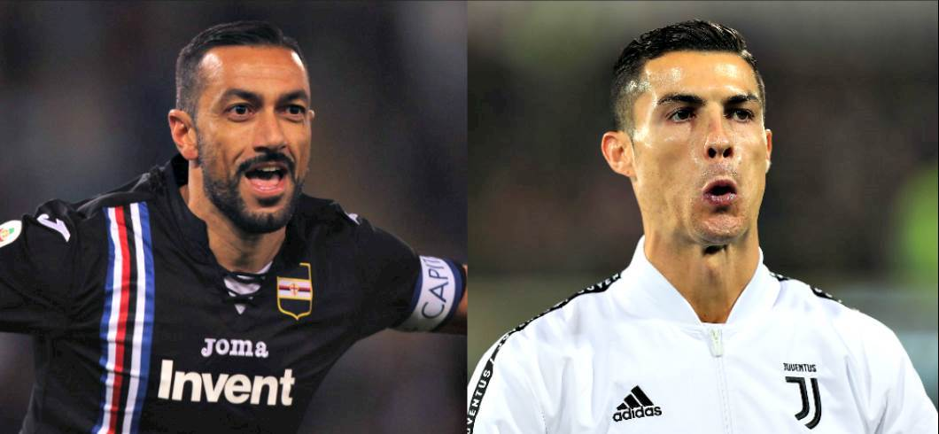 Quagliarella ha la barba, Cristiano Ronaldo no (Getty Images)