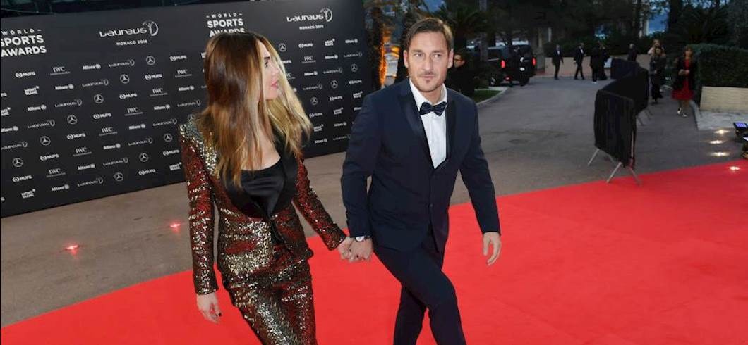 Totti e Ilary Blasi (getty)