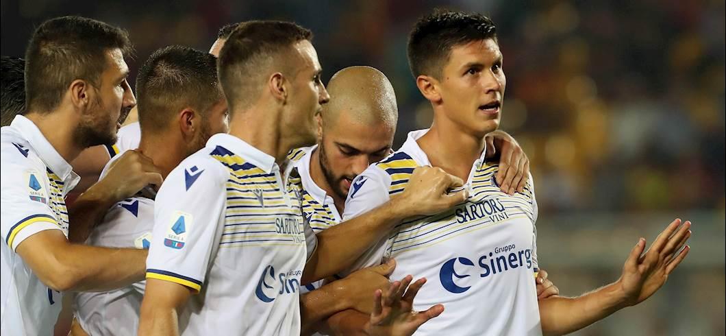 Esultanza Pessina, Lecce-Verona 0-1 (Getty Images)