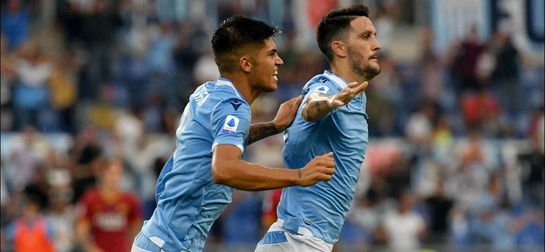 Esultanza Luis Alberto, Lazio-Roma 1-1 (Getty Images)