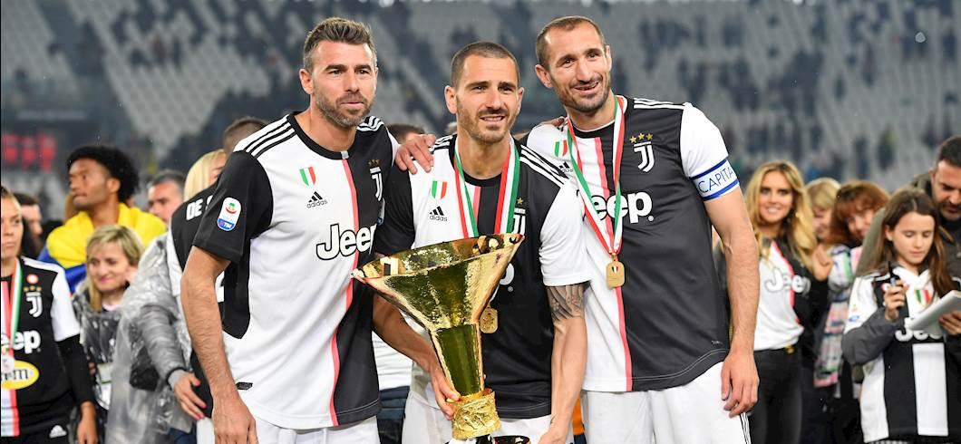 Andrea Barzagli, Leonardo Bonucci, Giorgio Chiellini (Getty)