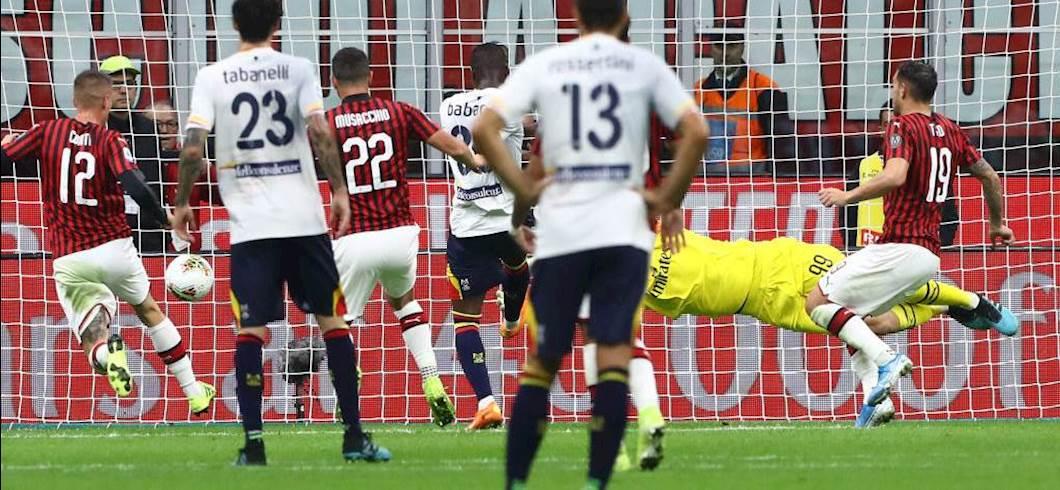 L\'errore di Babacar contro il Milan (getty images)