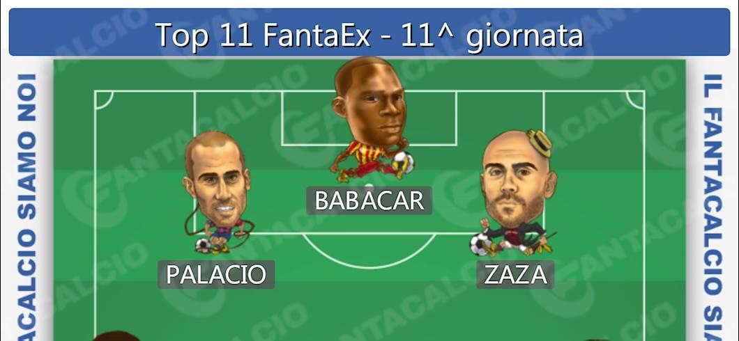 Top 11 FantaEx - 11^ giornata (Fantacalcio.it)