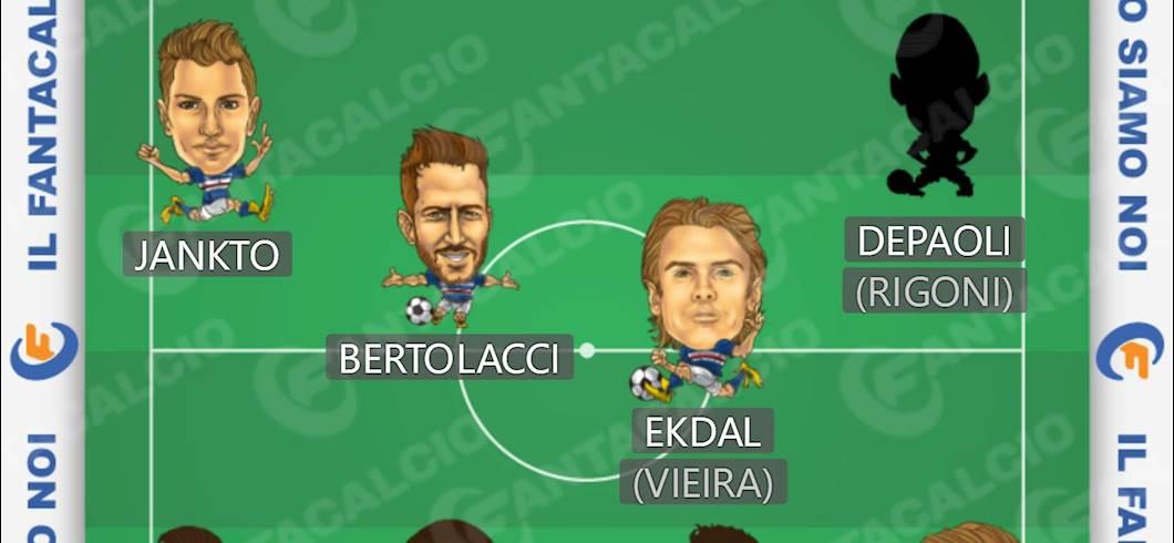 Sampdoria, ecco il 4-4-2 per il Fantacalcio