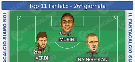 Top 11 FantaEx - 26^ giornata (Fantacalcio.it)
