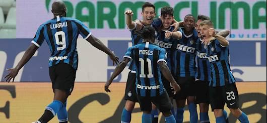 L'esultanza dell'Inter dopo il gol di Bastoni (Getty Images)