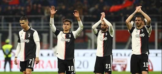 I bianconeri al termine della sfida contro il Milan (Getty Images)