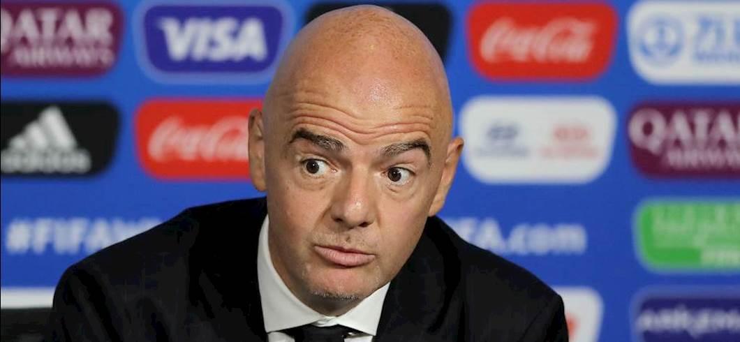 """Fifa, Infantino: """"Dobbiamo proteggere, tifosi e giocatori. Il calcio aiuterà la ripresa"""" (Getty Images)"""