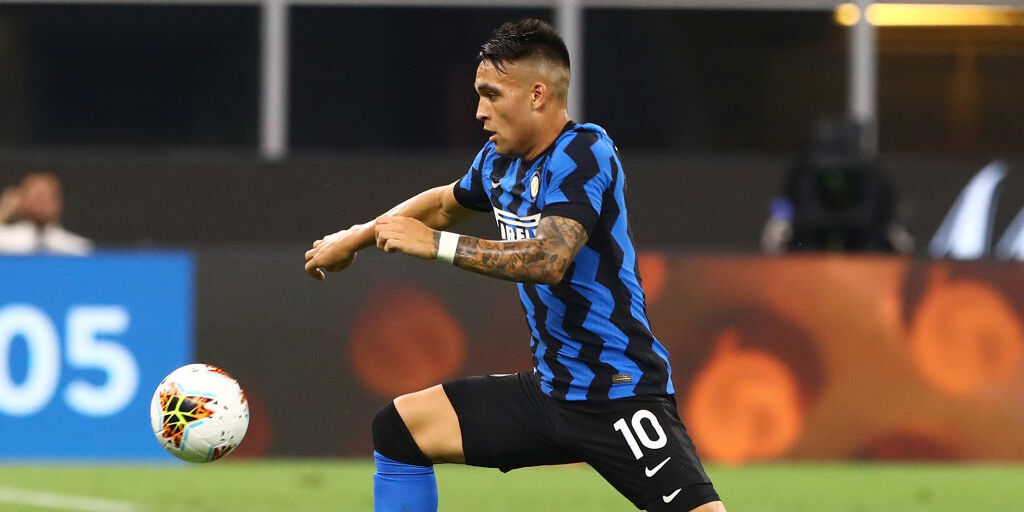 Atalanta-Inter, Lautaro Martinez in attacco  (Getty Images)
