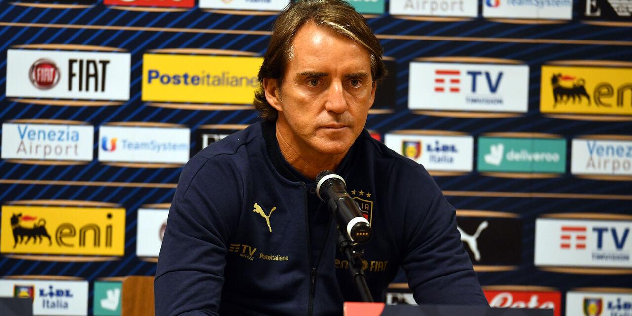 """Nations League, la conferenza di Mancini: """"La Spagna come l\'Italia"""" (Getty Images)"""