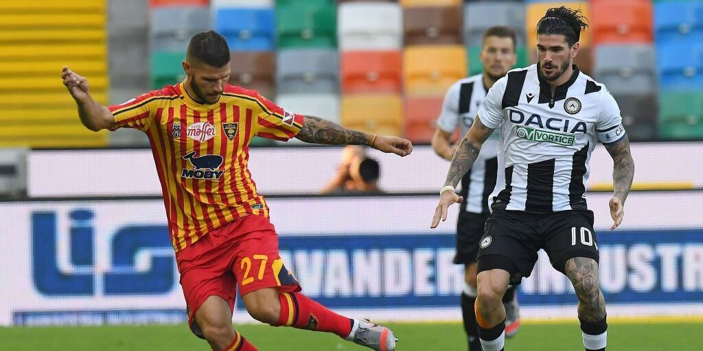 Udinese-Lecce voti e pagelle (Getty Images)