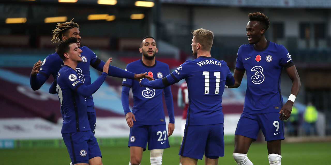Premier League, goleada Chelsea col Burnley nel segno di Werner (Getty Images)