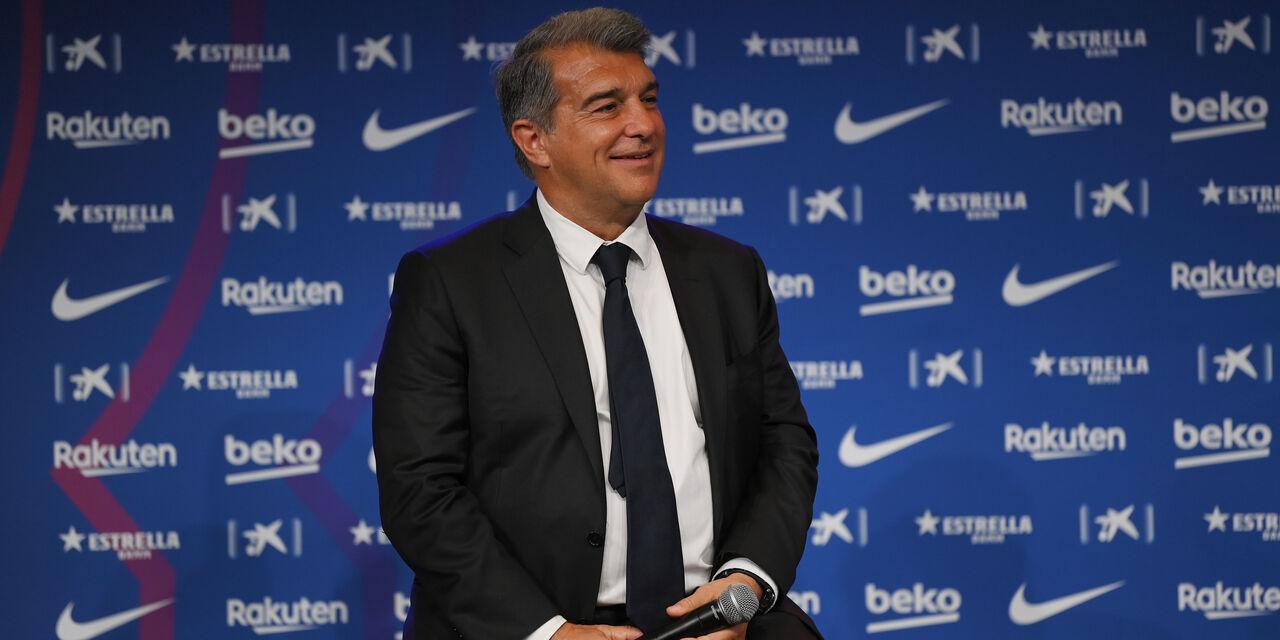 """Barcellona, Laporta: """"Messi? Facciamo il possibile, lui vuole rimanere. Su Griezmann..."""" (Getty Images)"""