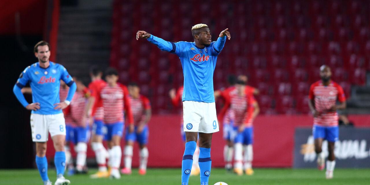 """Napoli, Giuntoli: """"Osimhen rientra la prossima settimana. E su Mertens..."""" (Getty Images)"""