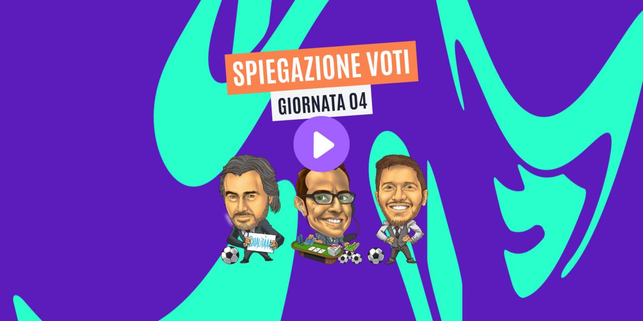 VIDEO: spiegazione voti Fantacalcio 4ª giornata - Trevisani, Pardo, Giunta