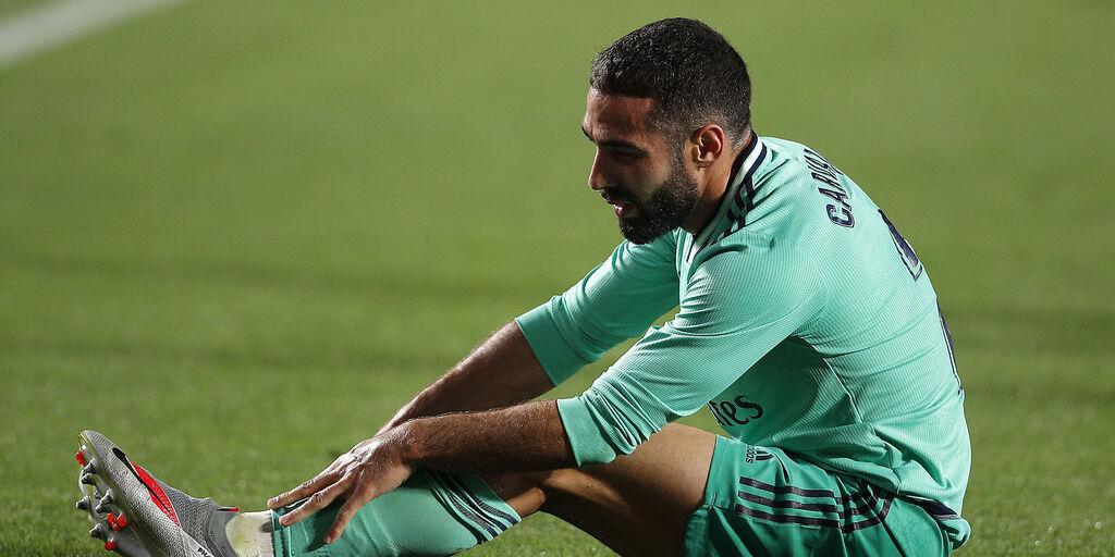 Real Madrid, brutto ko per Carvajal: i tempi di recupero (Getty Images)