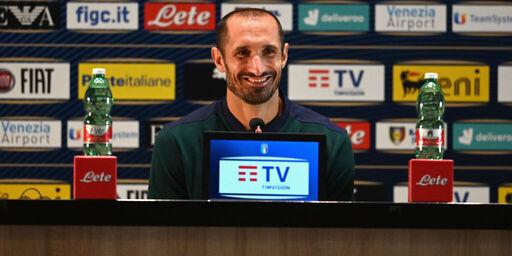 Giorgio Chiellini, la conferenza stampa (Getty Images)