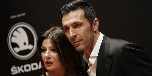 Ilaria D\'Amico e Gianluigi Buffon (Getty)