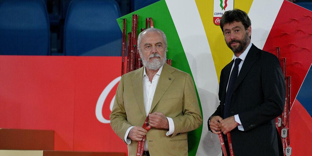 Aurelio De Laurentiis ed Andrea Agnelli (Getty Images)