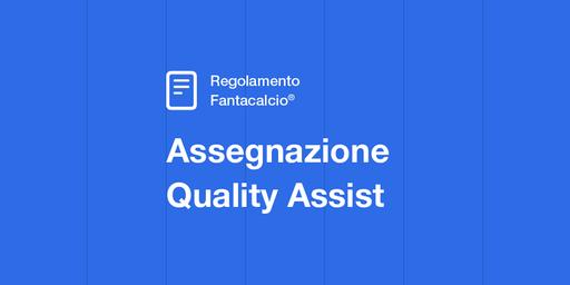 Regolamento Fantacalcio Assegnazione Quality assist