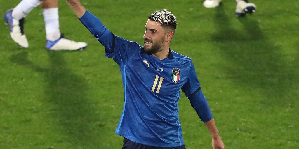 Italia, la carica di Grifo (Getty Images)