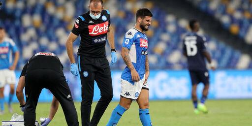 Napoli, il momento dell'infortunio di Insigne (Getty Images)