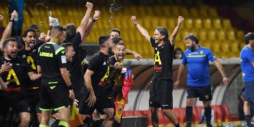La gioia di Pippo Inzaghi e dei suoi giocatori (getty)