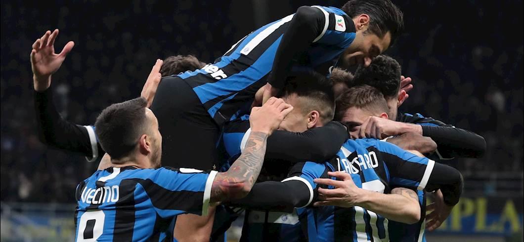 Esultanza giocatori dell\'Inter (Getty Images)