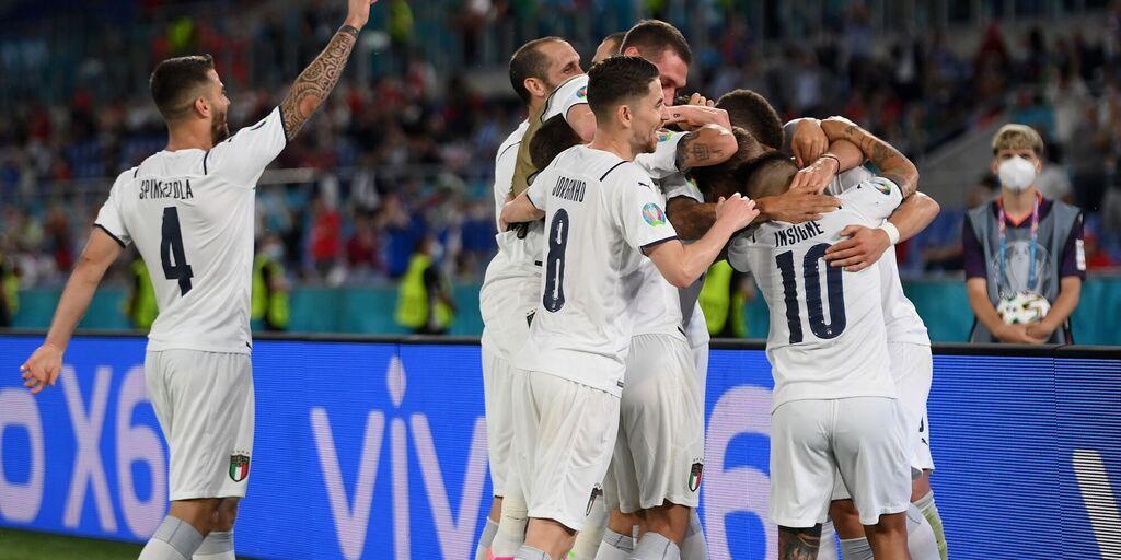 L'esultanza dell'Italia che ha battuto la Turchia (Getty Images)