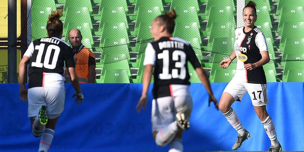 L'esultanza delle giocatrici della Juve (getty)
