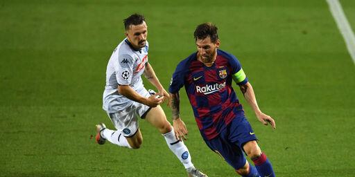 Champions League, Barcellona-Napoli 3-1: è sempre Lionel Messi (Getty Images)
