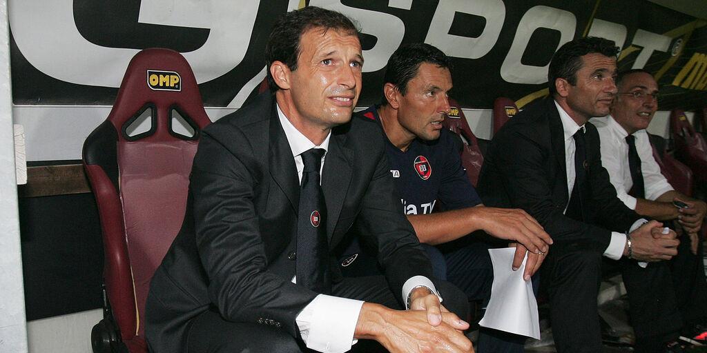 Massimiliano Allegri alla guida del Cagliari nel 2009
