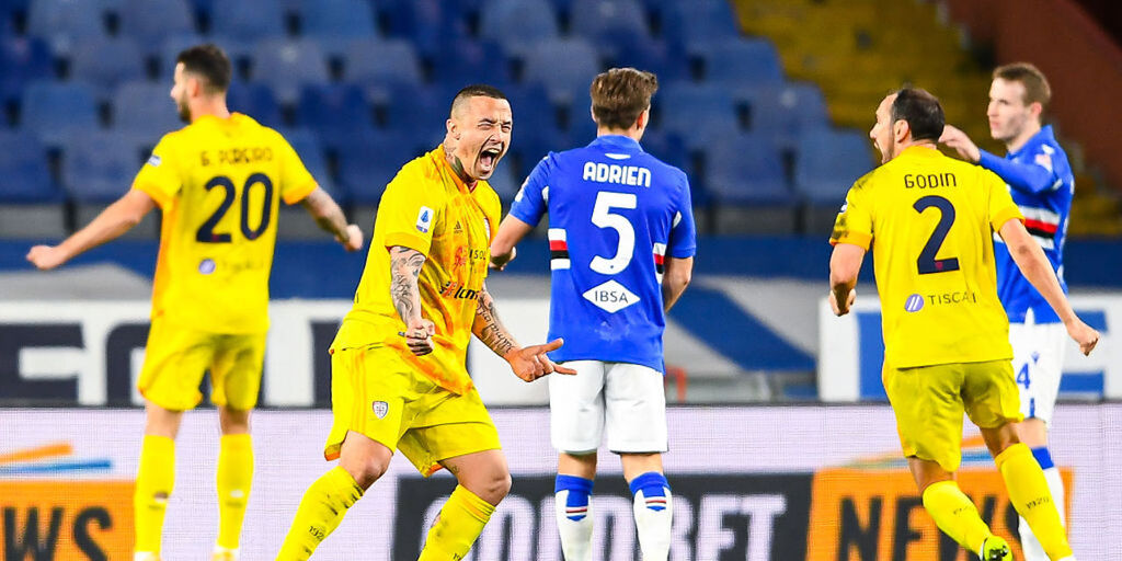 Sampdoria-Cagliari 2-2, gol e highlights (Getty Images)