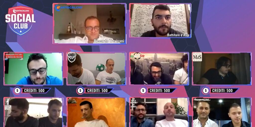 Lega Fantacalcio Social Club: un frame della diretta streaming dell'Asta del 22 settembre 2020