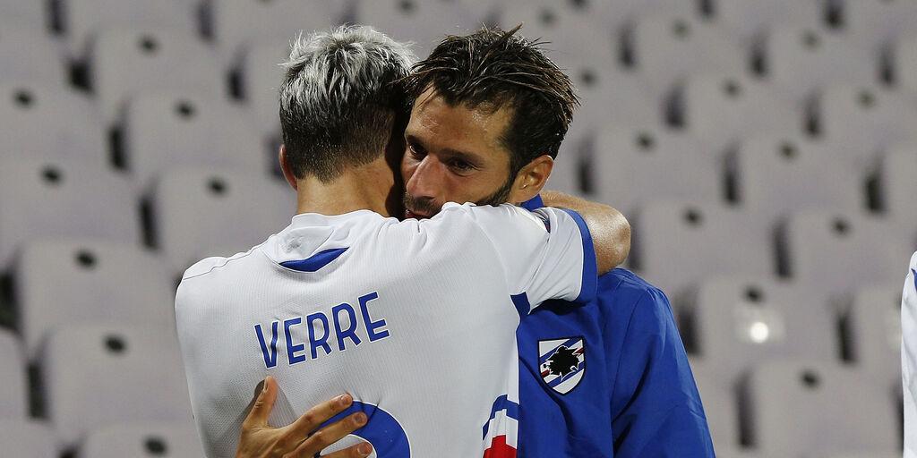 Fiorentina-Sampdoria 1-2: gol e highlights. La gioia di Verre (Getty Images)