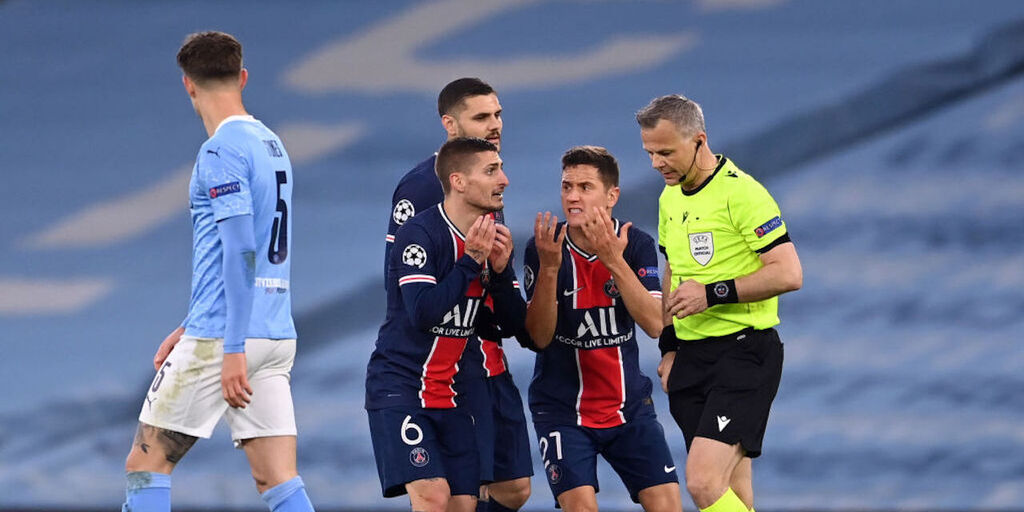 "Verratti accusa l'arbitro Kuipers: ""Mi ha mandato affan***o"" (Getty Images)"