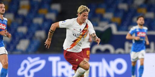 La Roma presenta la terza maglia. La indossa Zaniolo (Getty Images)