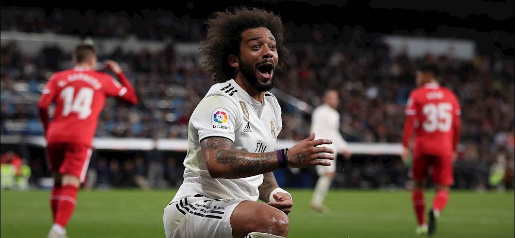 Real Madrid, problema muscolare per Marcelo (Getty Images)