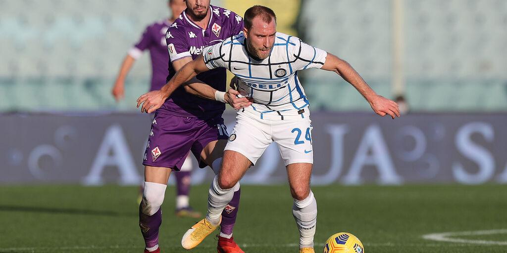 Inter, contro la Fiorentina Eriksen ha giocato regista (Getty Images)