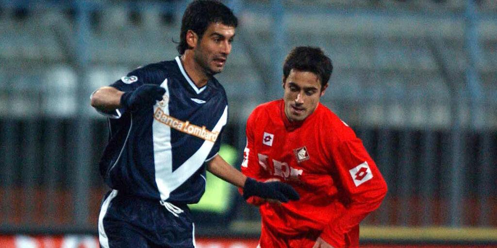 Guardiola in azione nel Brescia in serie A (getty)
