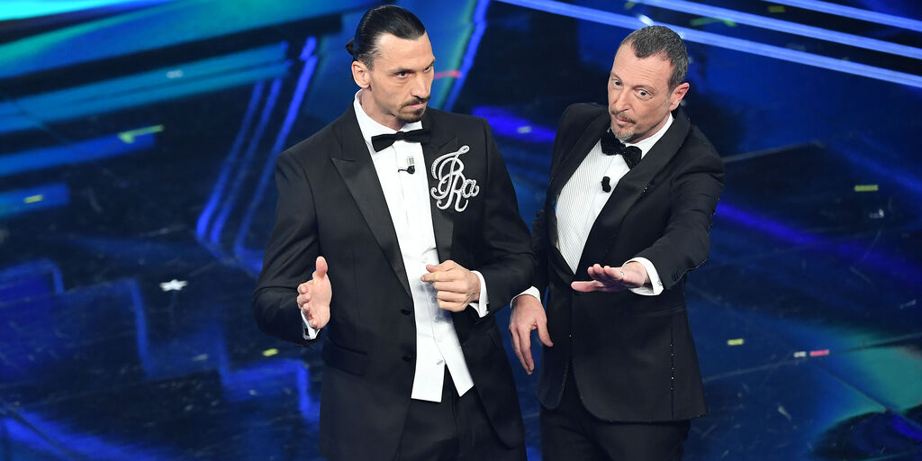 "Amadeus: ""Ecco le differenze tra Ronaldo e Ibrahimovic a Sanremo"" (Getty Images)"