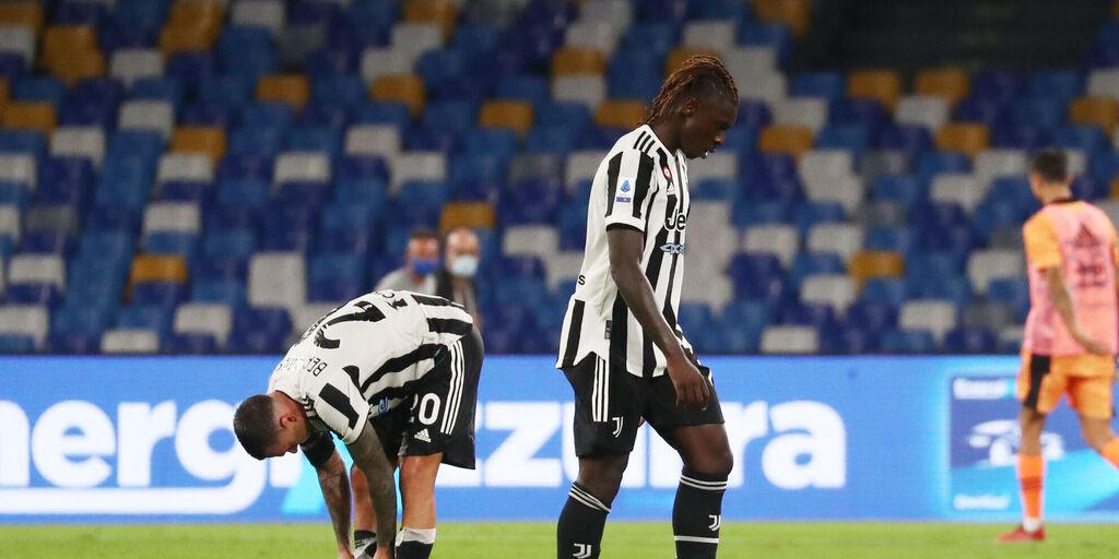 Kean a testa bassa dopo la sconfitta contro il Napoli (Getty Images)