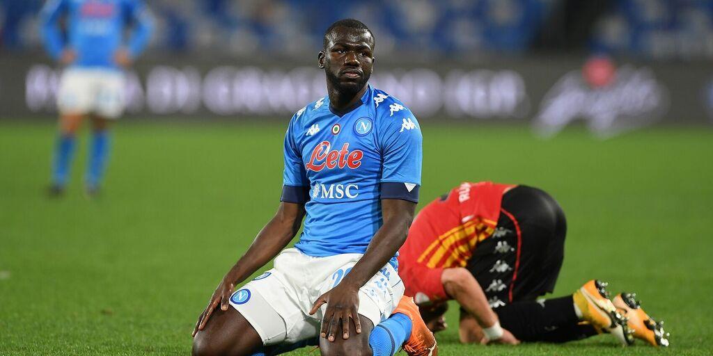 Napoli, infortunio muscolare per Koulibaly: il comunicato (Getty Images)