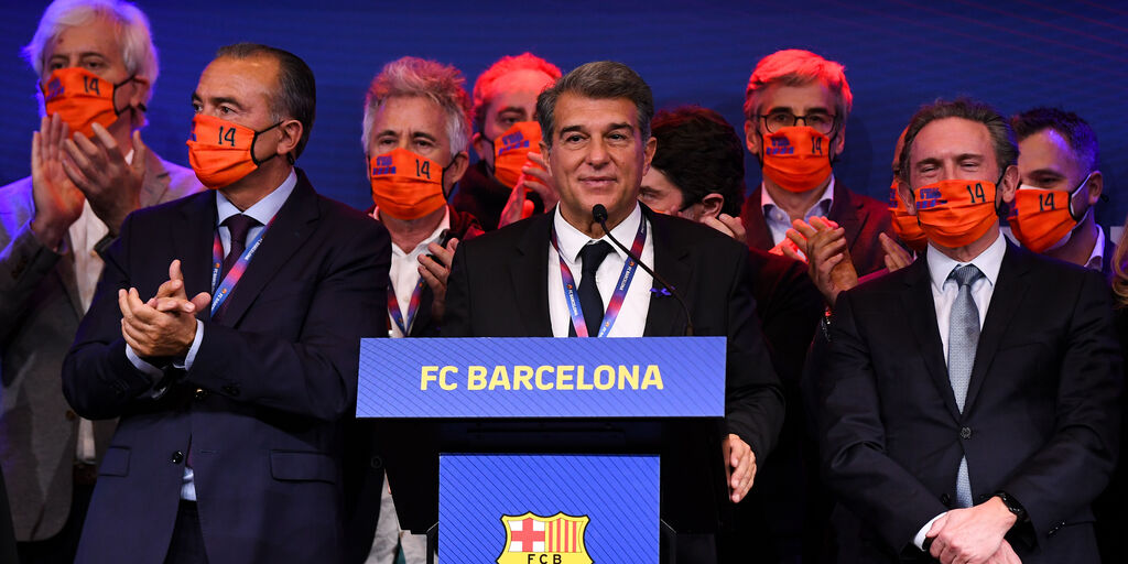 """Laporta, presidente Barcellona: """"La Superlega è una necessità""""  (Getty Images)"""