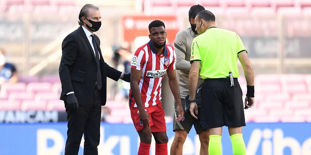 Atletico, lesione muscolare alla coscia per Lemar (Getty Images)