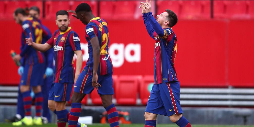 Liga, Messi trascina il Barcellona a Siviglia (Getty Images)