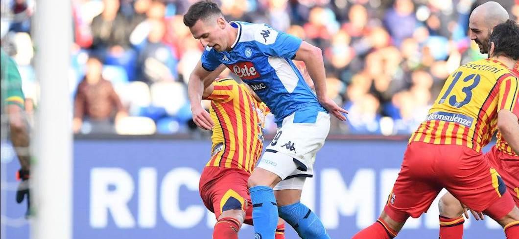 """Roma, il comunicato su Milik: """"Nessuna illazione sulle condizioni dell'attaccante"""" (Getty Images)"""