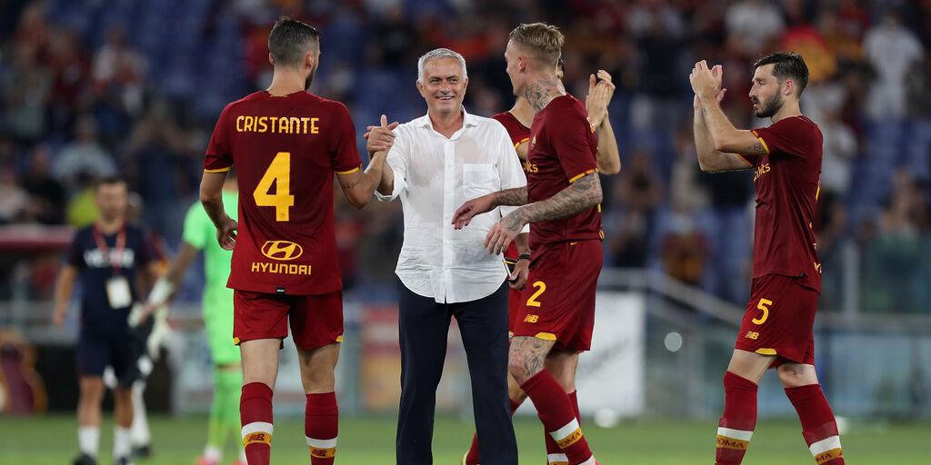 Roma, nel fortino Olimpico la gioia di Mourinho: 638° successo su 1000 panchine (Getty Images)