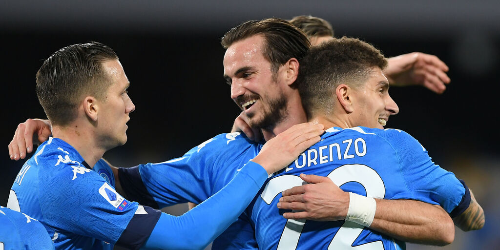 L\'esultanza degli azzurri dopo il gol del raddoppio (Getty Images).