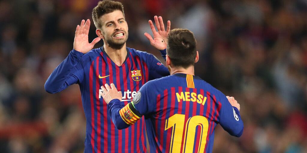 """Piqué: """"Messi il migliore della storia. Resta? Deve decidere lui"""" (Getty Images)"""